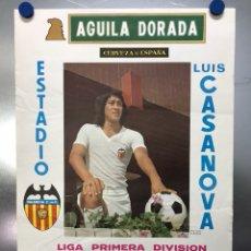 Colecionismo desportivo: CARTEL DE FUTBOL - LIGA 1ª DIVISION - R.C.D. ESPAÑOL, R.C. CELTA CONTRA VALENCIA C.F. - AÑO 1976. Lote 118245166