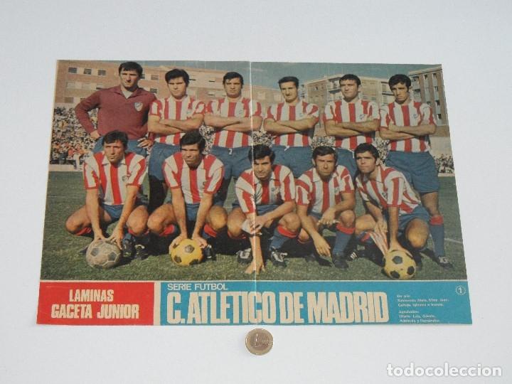 POSTER GACETA JUNIOR Nº 1: CLUB ATLÉTICO DE MADRID / CALVO SOTELO C. DE F. LIGA 1969-1970. S_N (Coleccionismo Deportivo - Carteles de Fútbol)