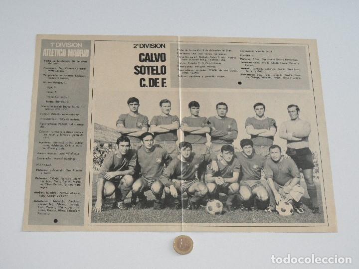 Coleccionismo deportivo: POSTER GACETA JUNIOR Nº 1: CLUB ATLÉTICO DE MADRID / CALVO SOTELO C. DE F. LIGA 1969-1970. S_N - Foto 2 - 31211360