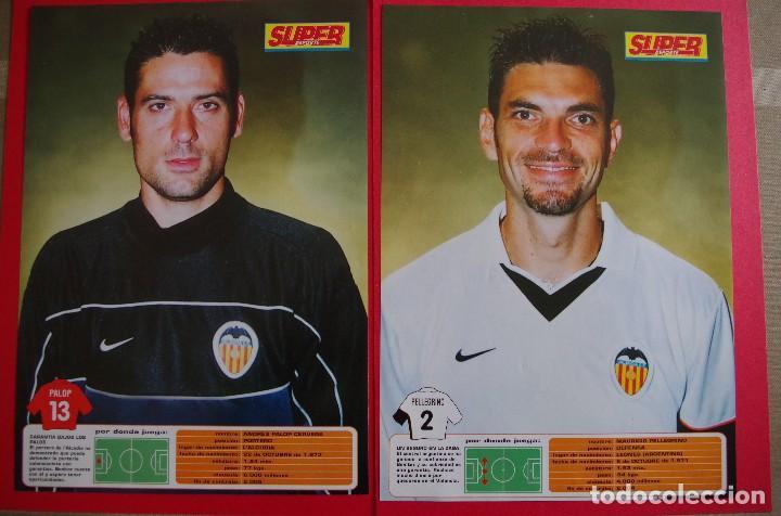 Coleccionismo deportivo: CARPETA DE SUPER DEPORTE CON 24 FOTOS CON FICHA TECNICA DE LOS JUGADORES DEL VALENCIA CF 2001 - Foto 6 - 118538139
