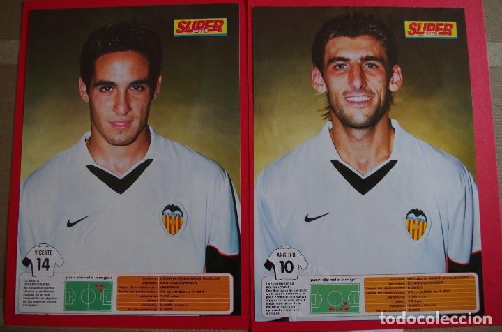 Coleccionismo deportivo: CARPETA DE SUPER DEPORTE CON 24 FOTOS CON FICHA TECNICA DE LOS JUGADORES DEL VALENCIA CF 2001 - Foto 7 - 118538139