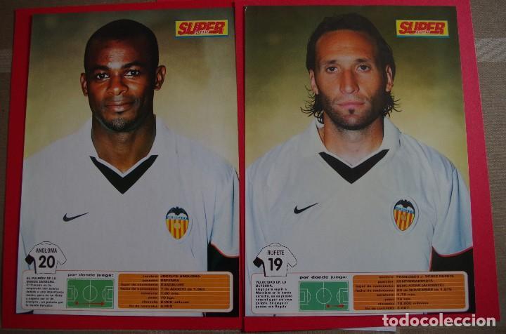 Coleccionismo deportivo: CARPETA DE SUPER DEPORTE CON 24 FOTOS CON FICHA TECNICA DE LOS JUGADORES DEL VALENCIA CF 2001 - Foto 12 - 118538139