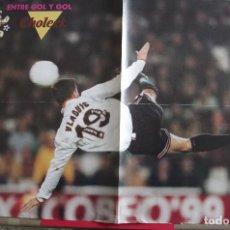 Coleccionismo deportivo: POSTER VLAOVIC VALENCIA CF - DETRAS CARICATURA DE LA LIGA. Lote 118564991