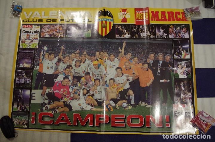 VALENCIA CF CAMPEON COPA DEL REY 1999 - SUPER POSTER HOMENAJE DE MARCA - 98 X 68 CM (Coleccionismo Deportivo - Carteles de Fútbol)