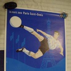 Coleccionismo deportivo: CARTEL FINAL CHAMPIONS LEAGUE 24-5-2000 - VALENCIA - REAL MADRID - PARIS SAINT DENIS - TAMAÑO 88X63. Lote 119452607