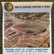 Coleccionismo deportivo: CARTEL POSTER UEFA ESTADIO FC FUTBOL CLUB BARCELONA BARÇA PARTIDO FINAL COPA VENCEDORES GLASGOW (5. Lote 119576311