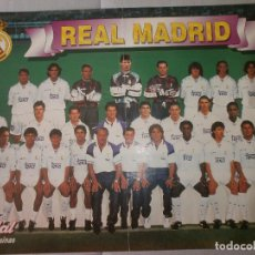 Coleccionismo deportivo: POSTER REAL MADRID 96/97 VIDAL GOLOSINAS. Lote 120020003
