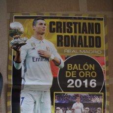 Coleccionismo deportivo: POSTER CRISTIANO BALON DE ORO 2016 (45X30 CM). Lote 120021707