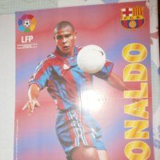Coleccionismo deportivo: POSTER RONALDO FC BARCELONA 96/97 VIDAL GOLOSINAS. Lote 120022795