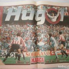 Coleccionismo deportivo: POSTER HUGO SANCHEZ REAL MADRID MARCA 1997. Lote 120023887