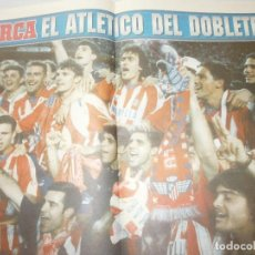 Coleccionismo deportivo: POSTER AT. MADRID DOBLETE 1995/96 MARCA. Lote 120025263