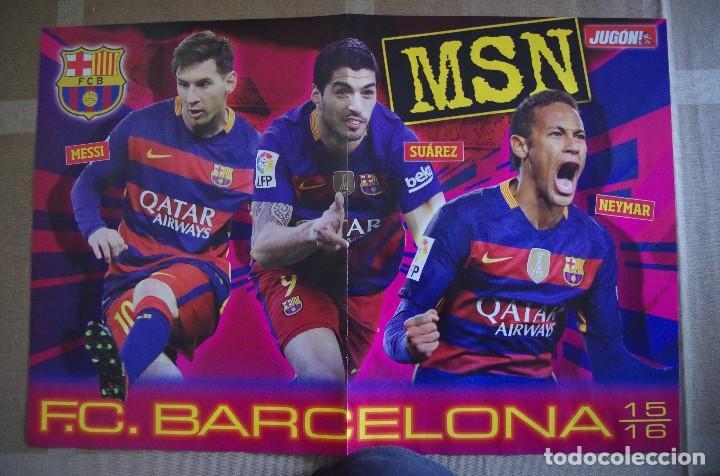 Coleccionismo deportivo: POSTER R. MADRID BBC 2015-2016 15/16 - DETRAS BARCELONA MSN 2015-16 - Foto 2 - 120051127