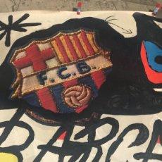 Coleccionismo deportivo: CARTEL DE 75 ANIVERSARI DEL FCB .BARCELONA. 1899-1974. JOAN MIRÓ. ED. POLIGRAFA.. Lote 120315135