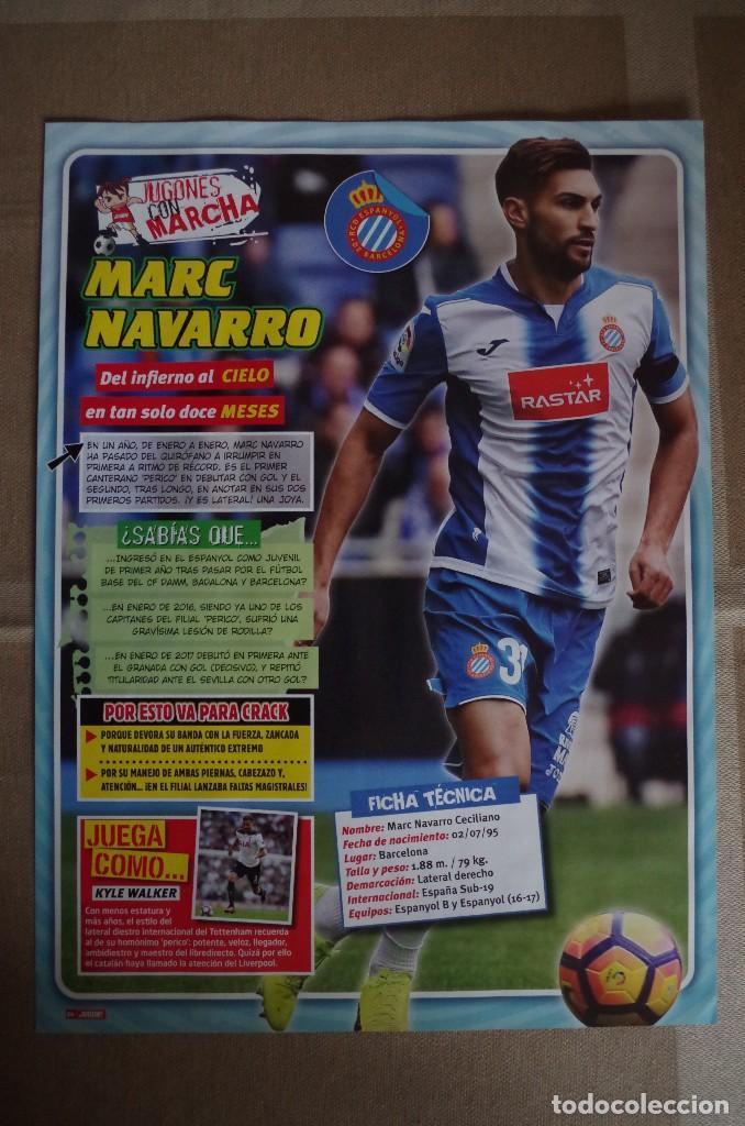 MARC NAVARRO R.C.D.ESPAÑOL - LAMINA POSTER 30X22 CM - JUGONES CON MARCHA (Coleccionismo Deportivo - Carteles de Fútbol)