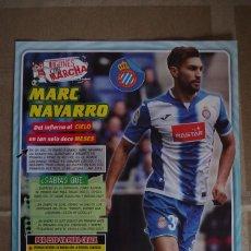 Coleccionismo deportivo: MARC NAVARRO R.C.D.ESPAÑOL - LAMINA POSTER 30X22 CM - JUGONES CON MARCHA. Lote 120341031