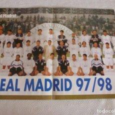 Coleccionismo deportivo: (RM)-POSTER FÚTBOL (31 X 43CM) PLANTILLA REAL MADRID 97-98. Lote 120740003