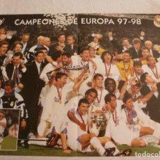 Coleccionismo deportivo: (RM) POSTER (52 X 39) REAL MADRID CAMPEÓN DE EUROPA 97-98. Lote 120782595