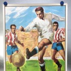 Coleccionismo deportivo: AÑO 1985 - CARTEL COPA DE LA UEFA, CUARTOS DE FINAL, PARTIDO VUELTA - REAL MADRID-TOTTENHAM HOTSPUR. Lote 164685840