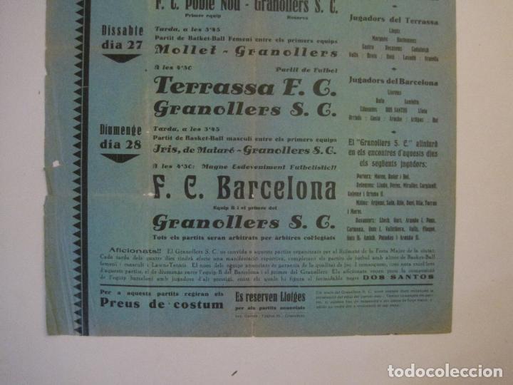 Coleccionismo deportivo: FUTBOL- GRANOLLERS S.C- CONTRA F.C. BARCELONA- FESTA MAJOR DE 1932 PARTITS -VER FOTOS-(V-14.536) - Foto 5 - 121157083