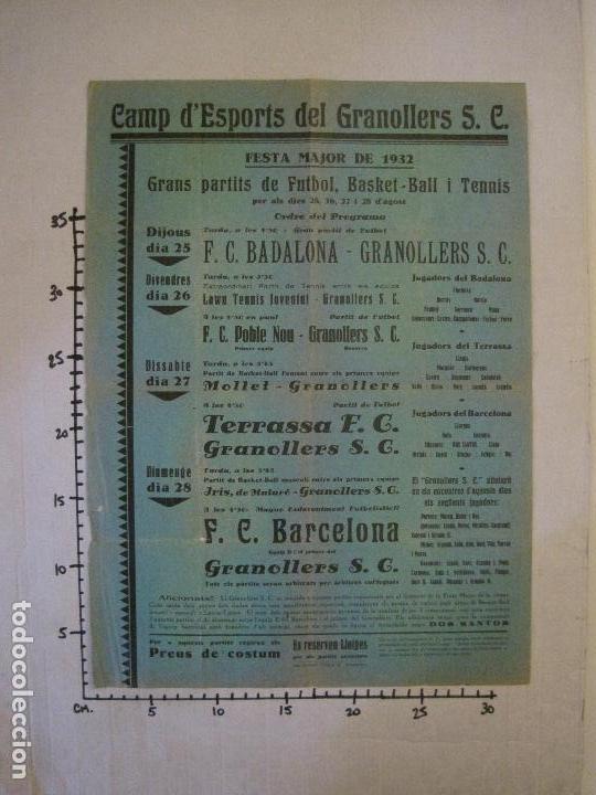Coleccionismo deportivo: FUTBOL- GRANOLLERS S.C- CONTRA F.C. BARCELONA- FESTA MAJOR DE 1932 PARTITS -VER FOTOS-(V-14.536) - Foto 12 - 121157083