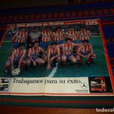 Coleccionismo deportivo: CARTEL PÓSTER CLUB ATLÉTICO DE MADRID Y REAL MADRID 1988 89. DIARIO MARCA MERCEDES BENZ. RARO.. Lote 121602771