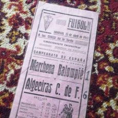 Coleccionismo deportivo: CARTEL FUTBOL PARTIDO SEMIFINAL DE ANDALUCIA, CAMPEONATO ESPAÑA- ALGECIRAS C.F.,1945. 31X14CM.. Lote 121770024