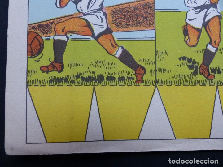 Coleccionismo deportivo: REAL MADRID - PRECIOSO CARTEL-RECORTABLE - LIGA FUTBOL 1954-1955 - DI STEFANO, MUÑOZ, MOLOWNY - Foto 3 - 121864583