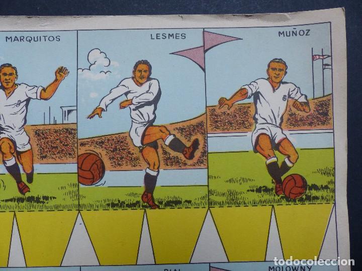 Coleccionismo deportivo: REAL MADRID - PRECIOSO CARTEL-RECORTABLE - LIGA FUTBOL 1954-1955 - DI STEFANO, MUÑOZ, MOLOWNY - Foto 5 - 121864583