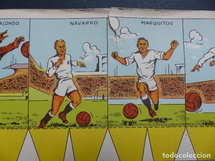Coleccionismo deportivo: REAL MADRID - PRECIOSO CARTEL-RECORTABLE - LIGA FUTBOL 1954-1955 - DI STEFANO, MUÑOZ, MOLOWNY - Foto 6 - 121864583