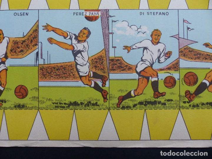 Coleccionismo deportivo: REAL MADRID - PRECIOSO CARTEL-RECORTABLE - LIGA FUTBOL 1954-1955 - DI STEFANO, MUÑOZ, MOLOWNY - Foto 7 - 121864583