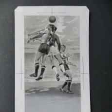 Coleccionismo deportivo: FUTBOL - PRECIOSO ORIGINAL PINTADO A MANO - LITOGRAFIA ORTEGA VALENCIA - AÑOS 1950-60. Lote 121865175