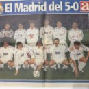 Coleccionismo deportivo: AS. PÓSTER REAL MADRID. MADRID,5-BARCELONA,0. Lote 124560626