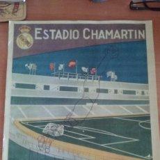 Coleccionismo deportivo: CARTEL AS REPRODUCCION PARTIDO INAGURAL ESTADIO SANTIAGO BERNABEU. 14-12-1947. . Lote 124616635