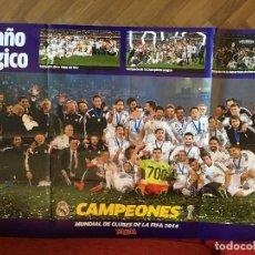 Coleccionismo deportivo: RP POSTER CARTEL REAL MADRID MARCA CAMPEONES MUNDIAL DE CLUBES DE LA FIFA 2014. Lote 124723815