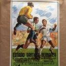 Coleccionismo deportivo: CARTEL UEFA. SEMIFINAL. REAL MADRID - INTER.1986. Lote 125071595