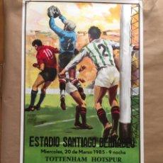Sammelleidenschaft Sport - Cartel Copa UEFA 1985. R. Madrid v. Tottenham - 125071944