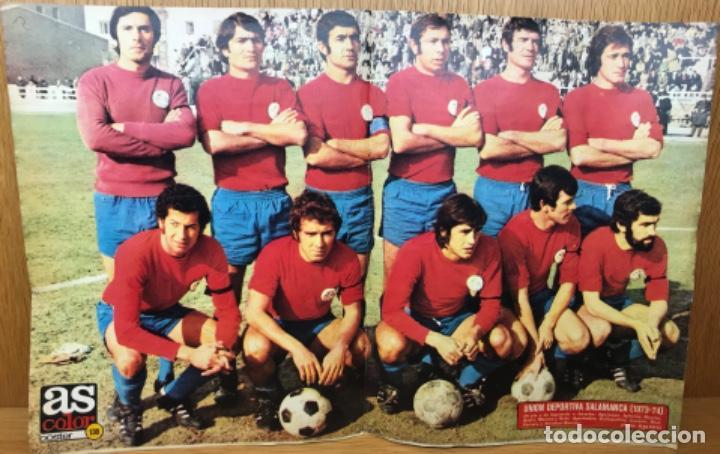Coleccionismo deportivo: Unión Deportiva Salamanca (1973 - 1974) - Póster N° 138 de As Color - Foto 2 - 125160555