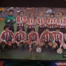 Coleccionismo deportivo: PÓSTER ATHLETIC DE BILBAO 1983-84 REVISTA PRONTO CAMPEONES DE LIGA Y COPA. Lote 126100375