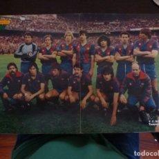 Coleccionismo deportivo: PÓSTER FUTBOL CLUB BARCELONA 1983-84 REVISTA PRONTO MARADONA SCHUSTER. Lote 126100455