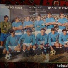 Coleccionismo deportivo: PÓSTER OVIEDO C.F. 1972-73 PERIÓDICO LA GACETA DEL NORTE DE BILBAO FÚTBOL. Lote 126100683
