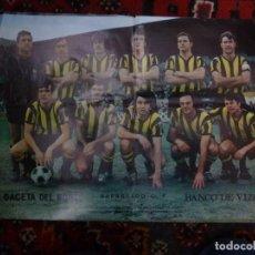 Coleccionismo deportivo: PÓSTER BARACALDO C.F. 1972-73 PERIÓDICO LA GACETA DEL NORTE DE BILBAO FÚTBOL. Lote 126100711