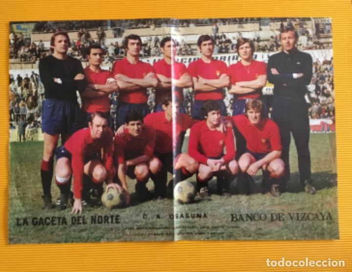 POSTER OSASUNA FÚTBOL CLUB AÑOS 70 (Coleccionismo Deportivo - Carteles de Fútbol)