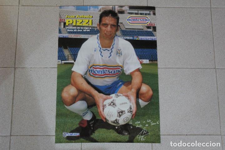 PÓSTER JUAN ANTONIO PIZZI CD TENERIFE. TEMPORADA 1995/96. REVISTA TENERIFE HOY. GRAN TAMAÑO 64×45 CM (Coleccionismo Deportivo - Carteles de Fútbol)