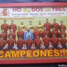 Coleccionismo deportivo: POSTER TABLA MADERA ENMARCADO SELECCION ESPAÑOLA ESPAÑA 2012 FUTBOL / 42 X 32 CM. Lote 126764626