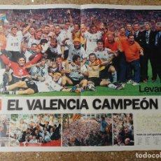 Coleccionismo deportivo: PÓSTER PERIODICO LEVANTE. VALENCIA C.F. CAMPEON DE COPA 1999. Lote 128048099