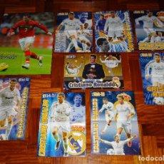 Coleccionismo deportivo: LOTE POSTERS CRISTIANO RONALDO REAL MADRID MANCHESTER UNITED PORTUGAL DON BALON CR7 REVISTA POSTER. Lote 128188571