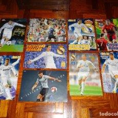 Coleccionismo deportivo: LOTE POSTERS CRISTIANO RONALDO REAL MADRID MANCHESTER UNITED PORTUGAL DON BALON CR7 REVISTA POSTER. Lote 128188579