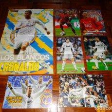 Coleccionismo deportivo: LOTE POSTERS CRISTIANO RONALDO REAL MADRID MANCHESTER UNITED PORTUGAL DON BALON CR7 REVISTA POSTER. Lote 128188583