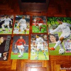 Coleccionismo deportivo: LOTE POSTERS CRISTIANO RONALDO REAL MADRID MANCHESTER UNITED PORTUGAL DON BALON CR7 REVISTA POSTER. Lote 128188591