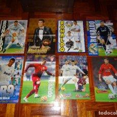 Coleccionismo deportivo: LOTE POSTERS CRISTIANO RONALDO REAL MADRID MANCHESTER UNITED PORTUGAL DON BALON CR7 REVISTA POSTER. Lote 128188595